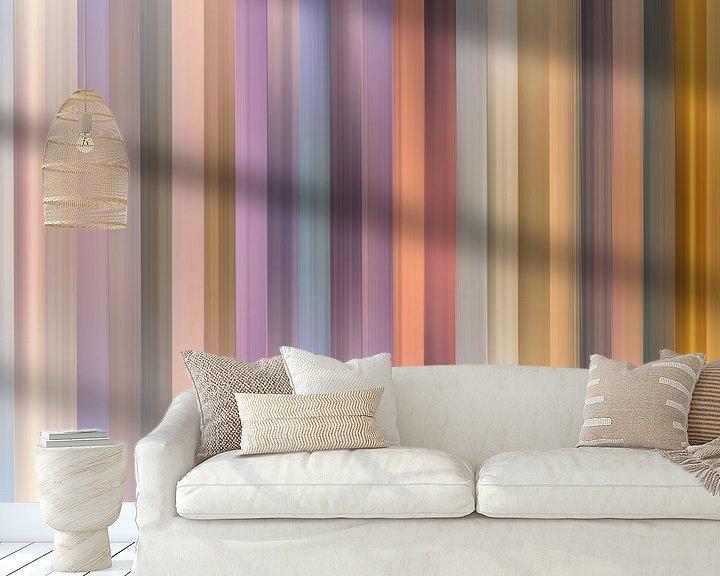 Sfeerimpressie behang: Kleurenpalet van de Zonsopkomst in Nederland van Reina Nederland in kleur