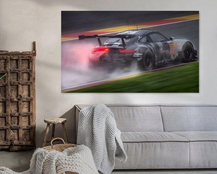 Beispiel: Porsche 911 GT3RS2 mit Regen auf Spa-Francorchamps während wec6hofspa von Stefano Scoop