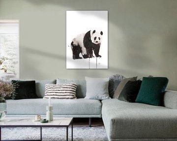 Druck eines Pandas, spezielle Tierillustration von Angela Peters