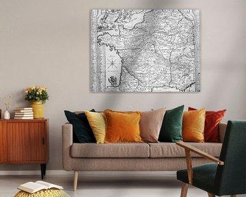 Alte landkarte Frankreich von Martijn Joosse
