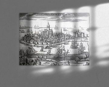 Kopergravure van Saint-Malo von Martijn Joosse