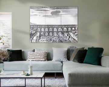 Kopergravure van de Pont du Gard von Martijn Joosse