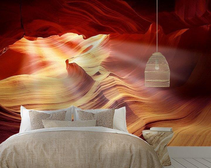 Sfeerimpressie behang: 0885 Antelope III van Adrien Hendrickx