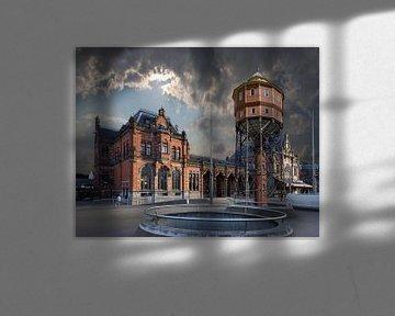 Station en Watertoren De Bovenkamer Groningen von Aad Trompert