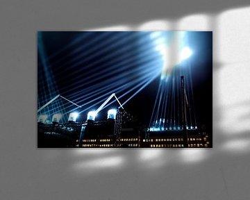 Lichtstrahlen während 'Glow' Eindhoven von René van der Horst