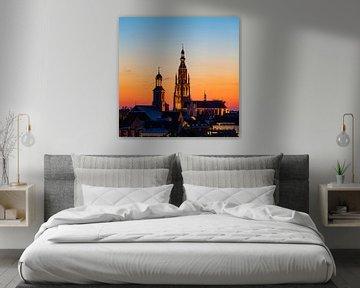 Breda - Grote Kerk Sunset van I Love Breda
