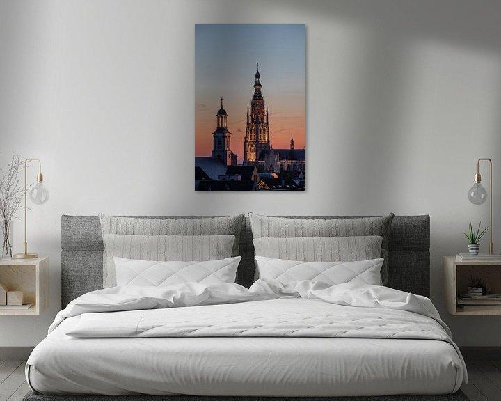 Sfeerimpressie: Breda - Grote Kerk - Zonsondergang van I Love Breda