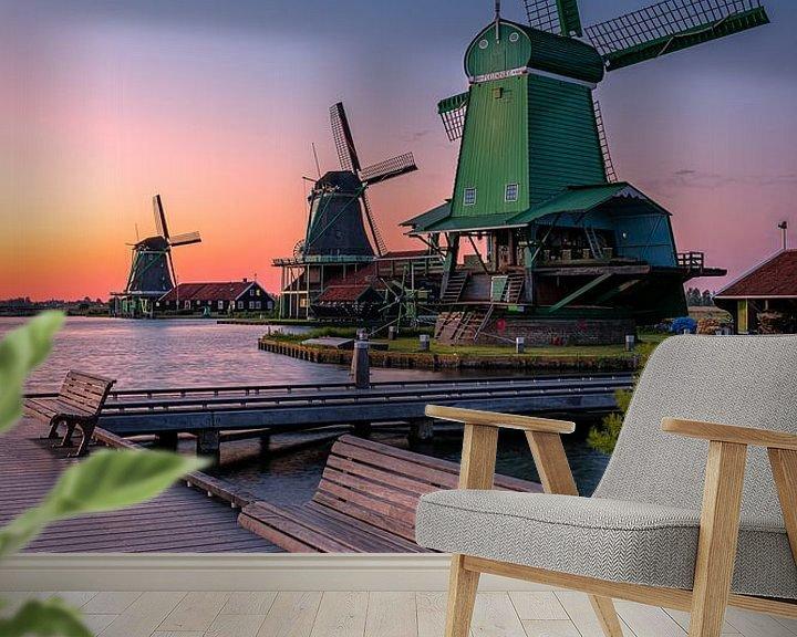 Beispiel fototapete: A view of windmills von Costas Ganasos