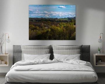Uitzicht op besneeuwde bergen van Martijn Joosse