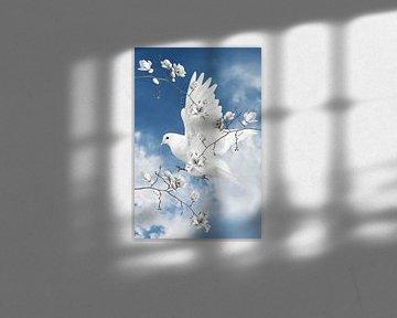 La colombe blanche sur Marja van den Hurk