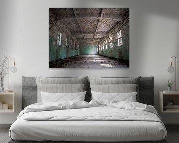 Verlassene Lotsenschule, Belgien - Urbex / Verfall / Alt / Graffiti / Halle / Halle / Klassenzimmer von Art By Dominic