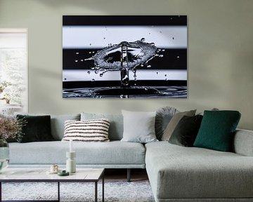 Water paraplu zwart wit van René van der Horst