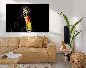 Digitale Fotokunst - Michael Jackson / Porträt / Mann / Abstrakt / Farben / Berühmt / Vektor / Pop A von Art By Dominic