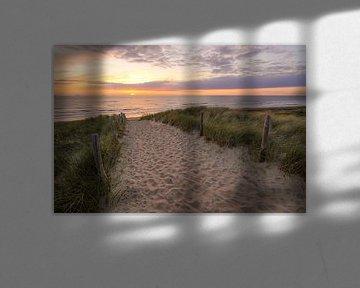 Strandopgang aan zee sur Dirk van Egmond