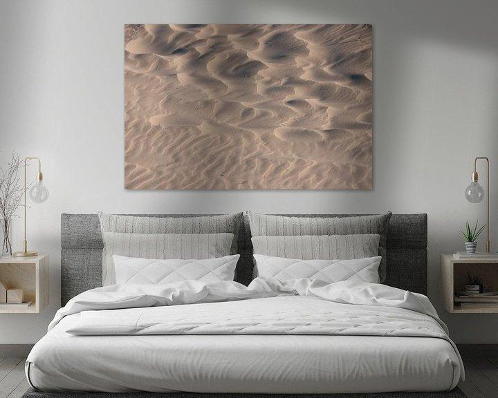 Sfeerimpressie: Zand,vormen,schaduwen en patronen van Art Wittingen