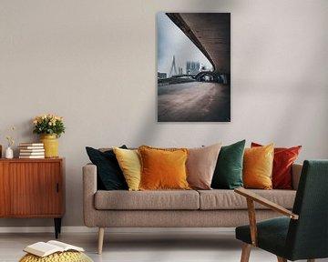 Rotterdamse architectuur op een mistige dag van vedar cvetanovic