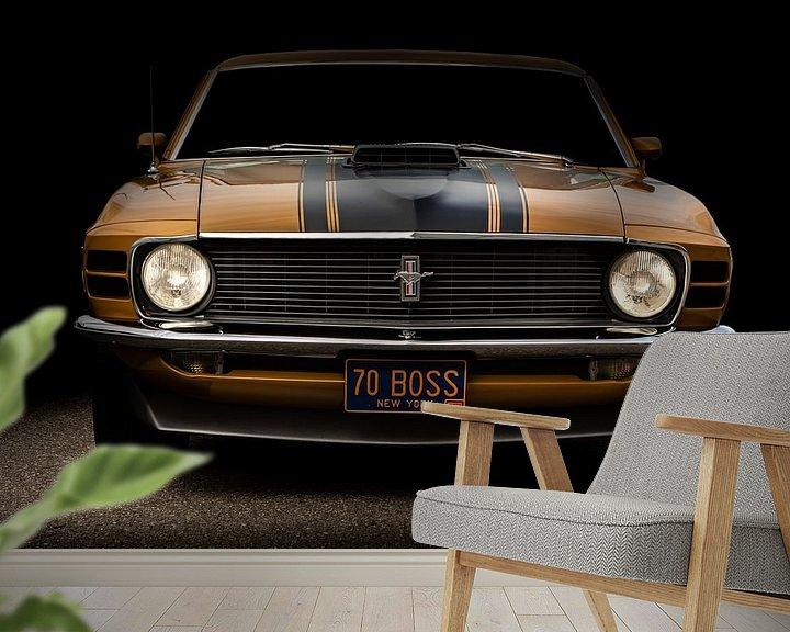 Sfeerimpressie behang: Mustang boss 302 van marco de Jonge