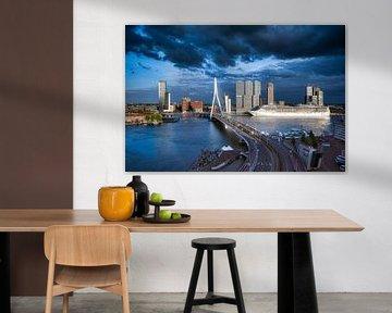 De Skyline van Rotterdam van Roy Poots