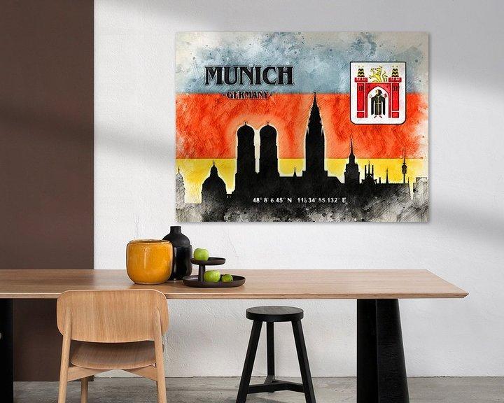 Sfeerimpressie: München van Printed Artings