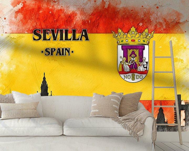 Sfeerimpressie behang: Sevilla van Printed Artings