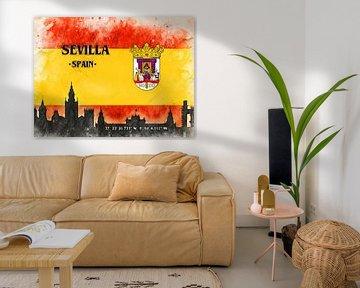 Sevilla van Printed Artings