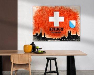 Zürich van Printed Artings