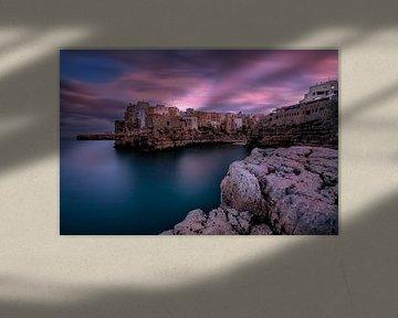 Zonsondergang in Polignano a Mare