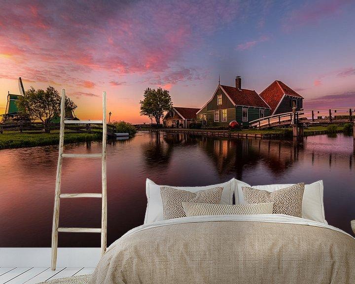 Beispiel fototapete: Yet another sunset in Zaanse Schans von Costas Ganasos