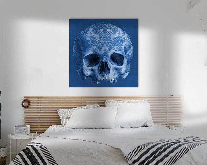 Sfeerimpressie: The Delftblue Skull van Marja van den Hurk