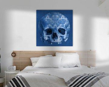 The Delftblue Skull
