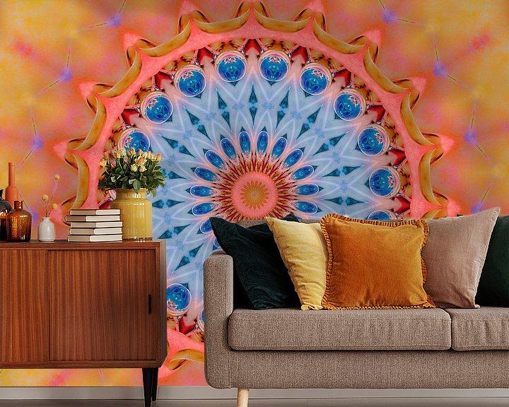 Sfeerimpressie behang: mandala van harry de jong