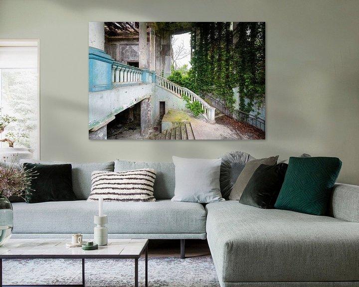 Beispiel: Verlassene überwucherte Treppe. von Roman Robroek
