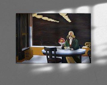 Automatic revisited - inspired by Edward Hopper von Jan Wiersma