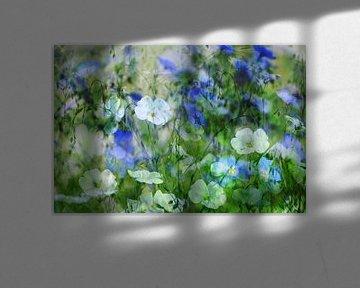 Blauer und weißer Lein von christine b-b müller