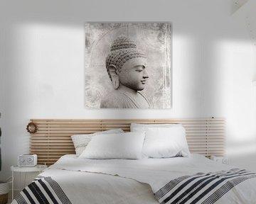 Buddha Fine Art  in Schwarzweiß von Carmen Varo
