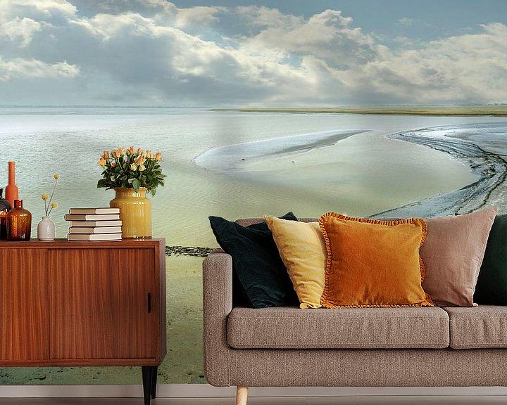 Sfeerimpressie behang: 0584 Michel's beach van Adrien Hendrickx