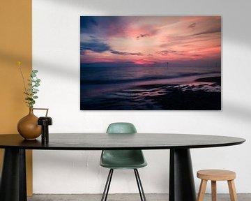 Kleurrijke zonsondergang van Quinten Van Ooijen