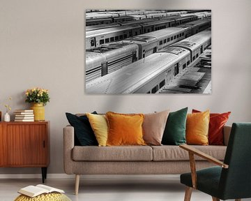 Treinstellen op Rangeerterrein midtown New York