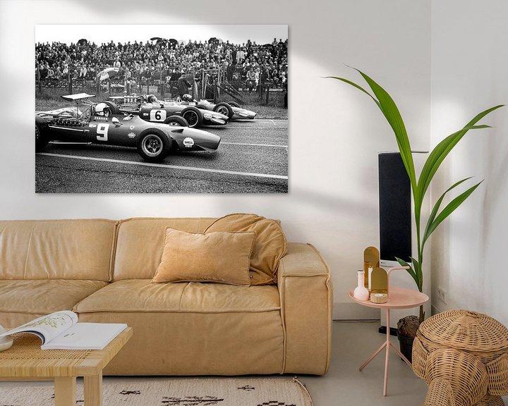 Sfeerimpressie: 1e Startrij Grand Prix 1968 Zandvoort van Harry Hadders