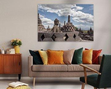 Borobudur  - Yogjakarta van Dries van Assen
