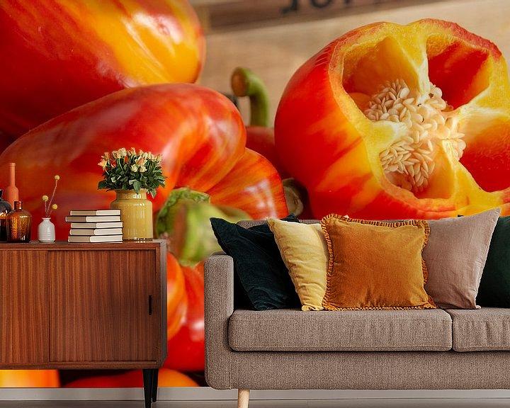 Beispiel fototapete: Oranje paprika von Jaco Verheul