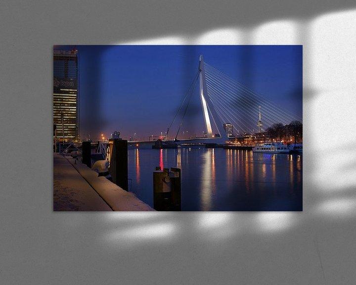 Sfeerimpressie: Rotterdam / KPN /Erasmusbrug / Euromast van Remy De Milde