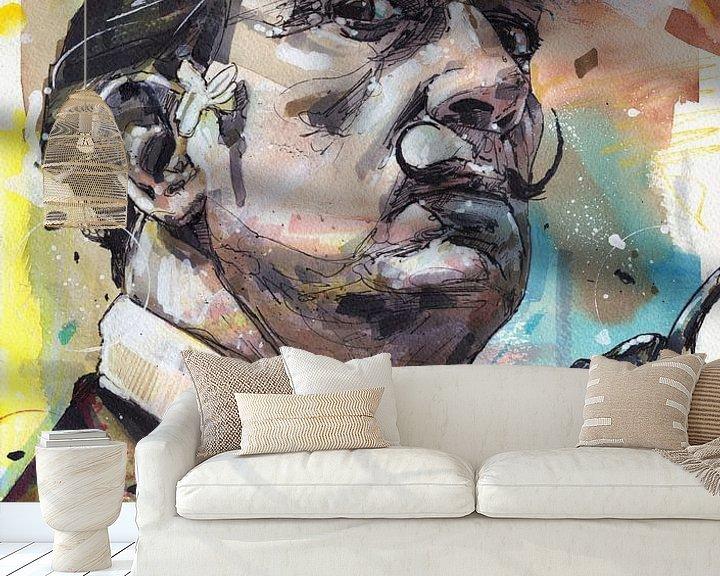 Sfeerimpressie behang: Salvador Dali schilderij van Jos Hoppenbrouwers