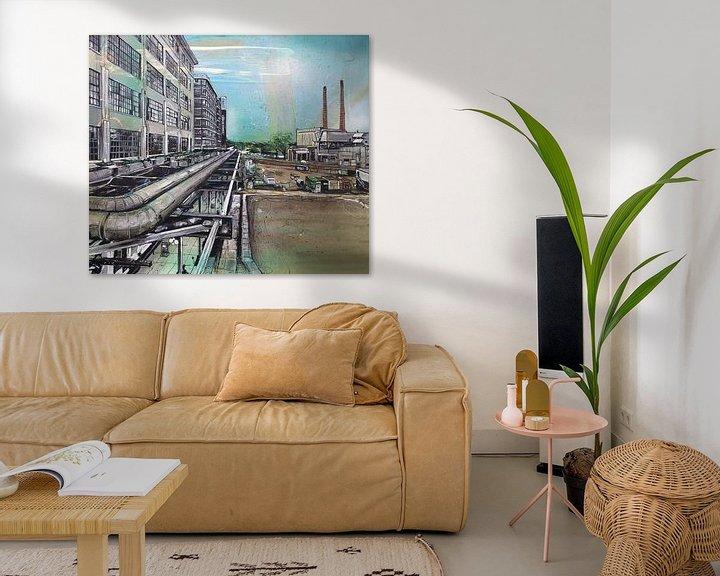 Sfeerimpressie: Eindhoven Strijp-S schilderij van Jos Hoppenbrouwers