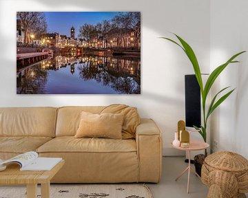 Domtoren en de Weerdsingel in Utrecht vanaf de Weerdsluis