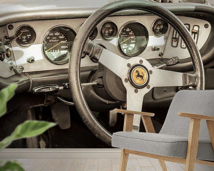 Impression: Tableau de bord voiture de sport Ferrari 308 GT4 Dino sur Sjoerd van der Wal