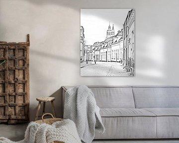 Digitale schets van de Peperbus in Bergen op Zoom von Kim de Been