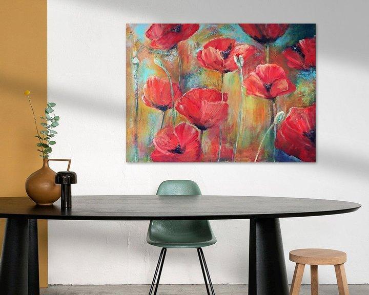 Beispiel: klaprozen in het veld.. ( poppies in the field) painting von Els Fonteine