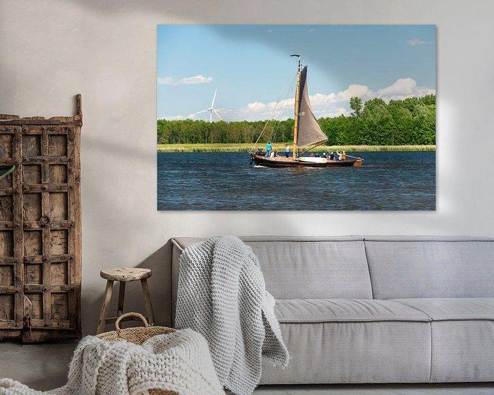 Sfeerimpressie: Botter op het Eemmeer. van Brian Morgan