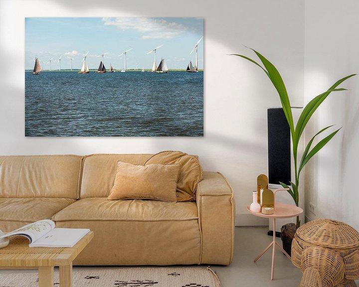 Impression: Botters op het Eemmeer is volle zeilen. sur Brian Morgan